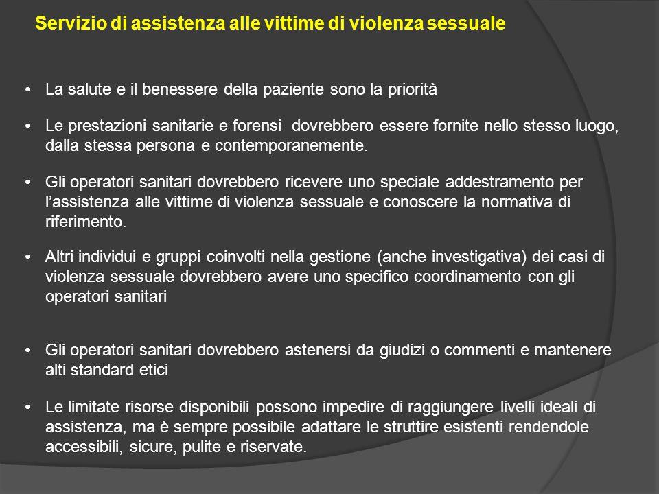 Servizio di assistenza alle vittime di violenza sessuale