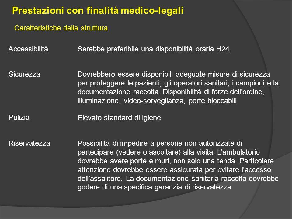 Prestazioni con finalità medico-legali