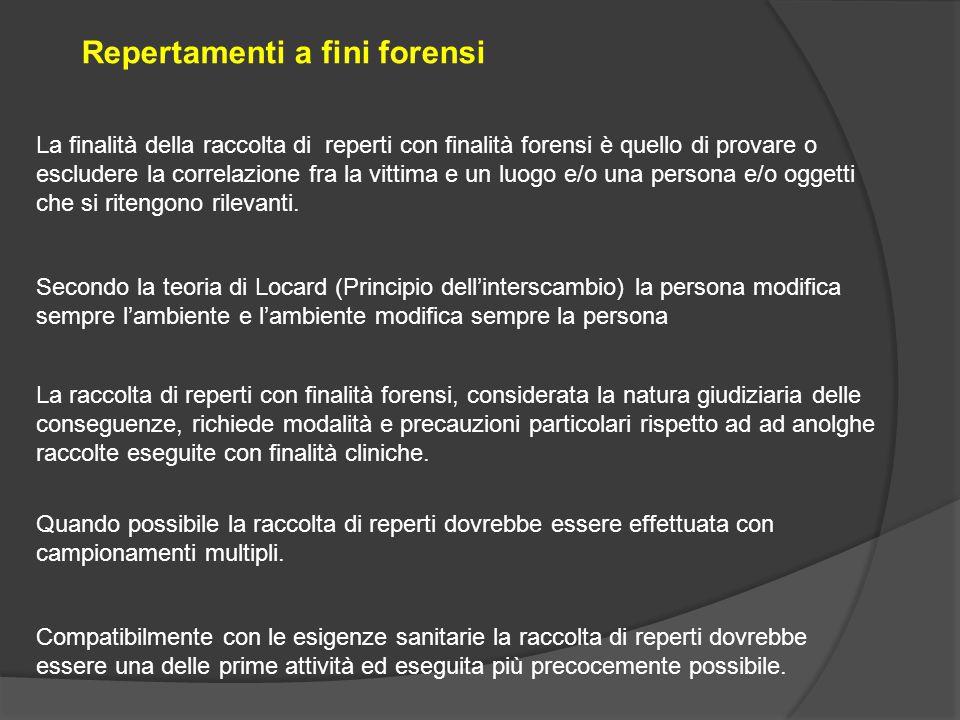 Repertamenti a fini forensi