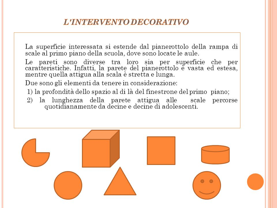 L INTERVENTO DECORATIVO