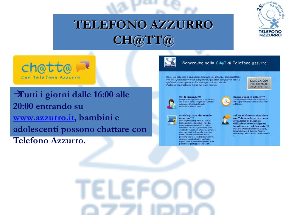 TELEFONO AZZURRO CH@TT@