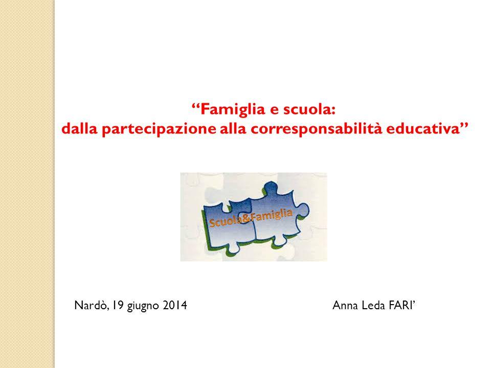 dalla partecipazione alla corresponsabilità educativa