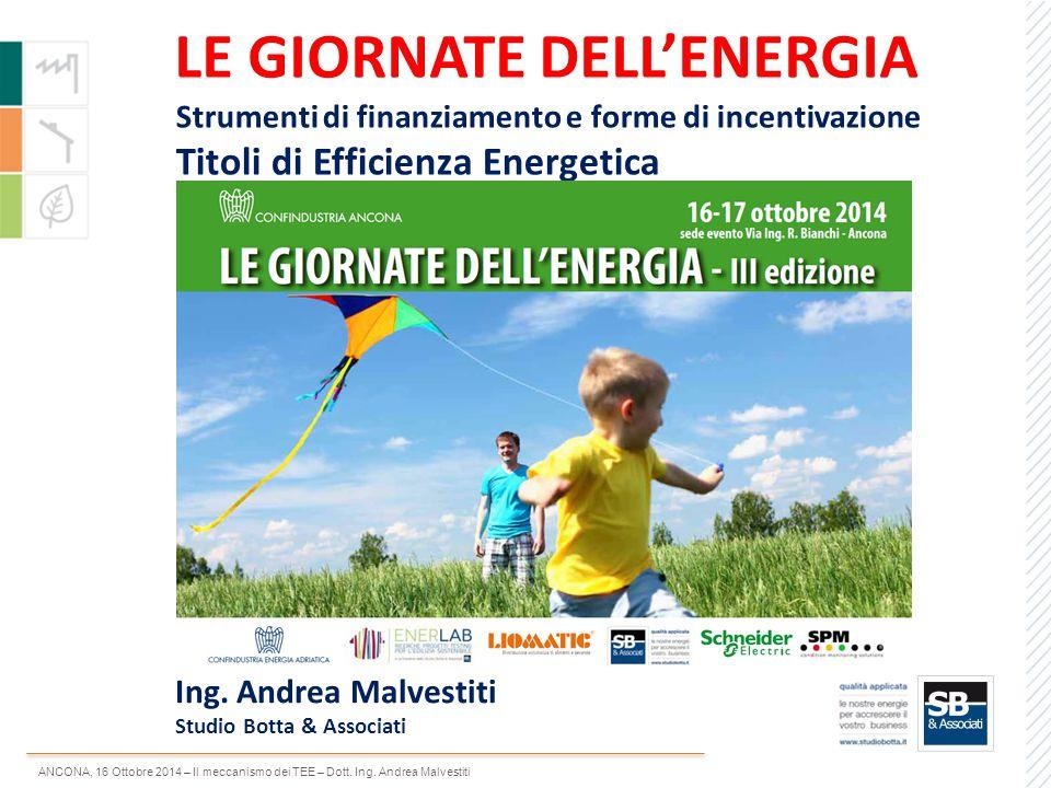LE GIORNATE DELL'ENERGIA