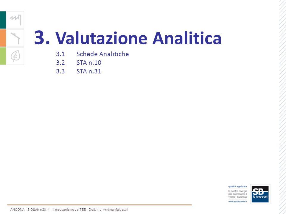 3. Valutazione Analitica