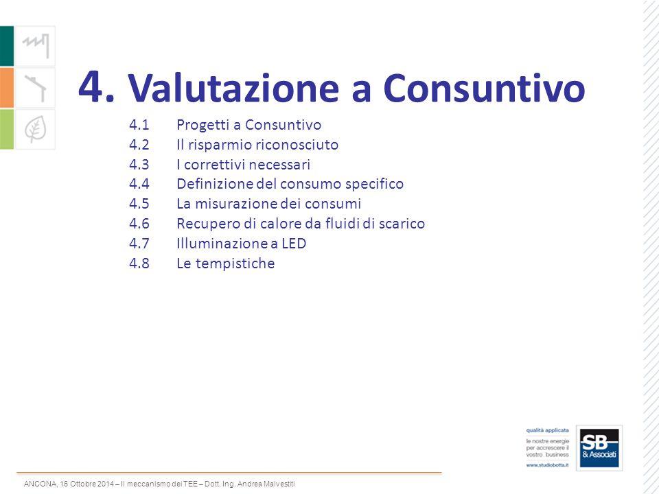 4. Valutazione a Consuntivo