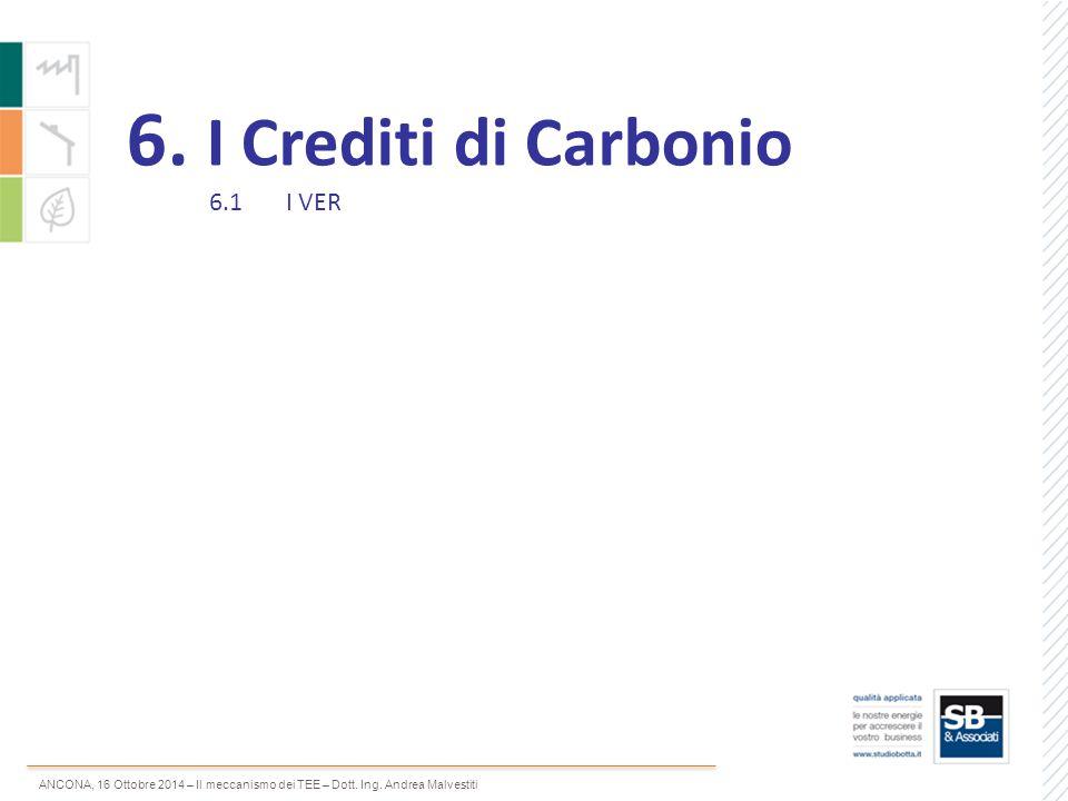 6. I Crediti di Carbonio 6.1 I VER