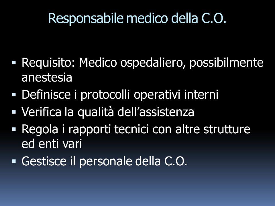 Responsabile medico della C.O.