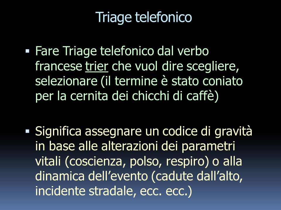 Triage telefonico