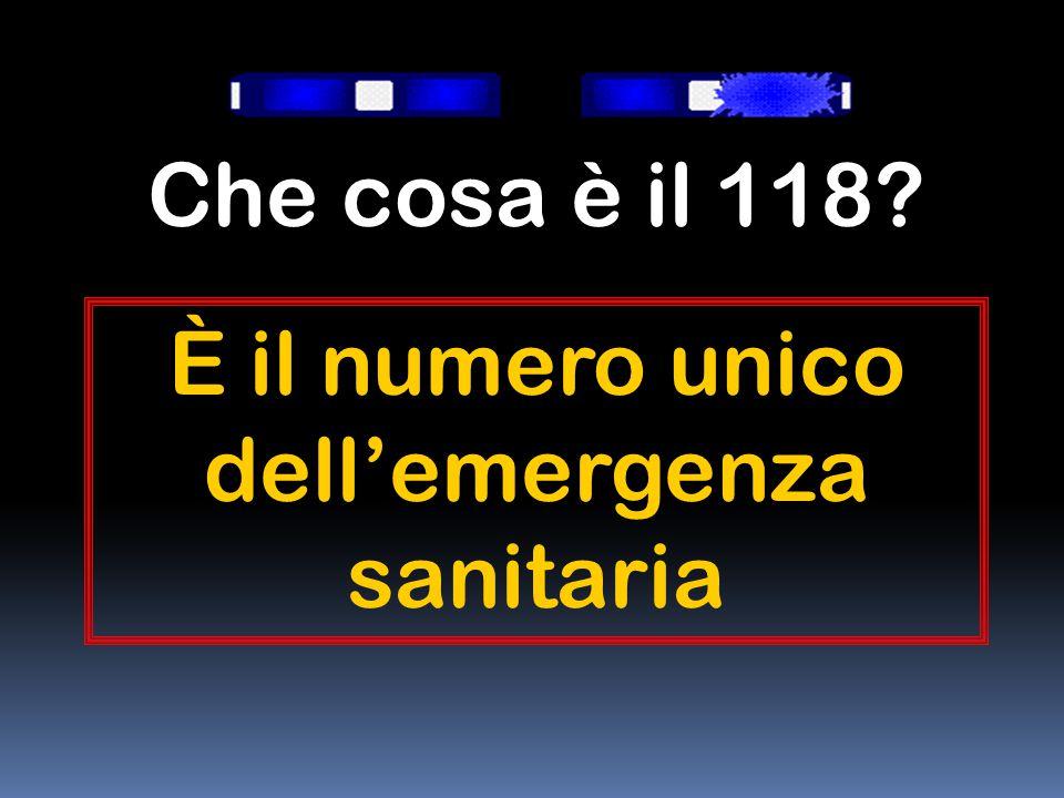 È il numero unico dell'emergenza sanitaria