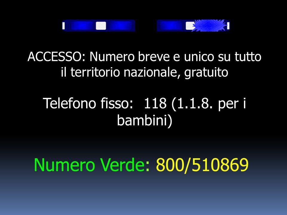 Telefono fisso: 118 (1.1.8. per i bambini)