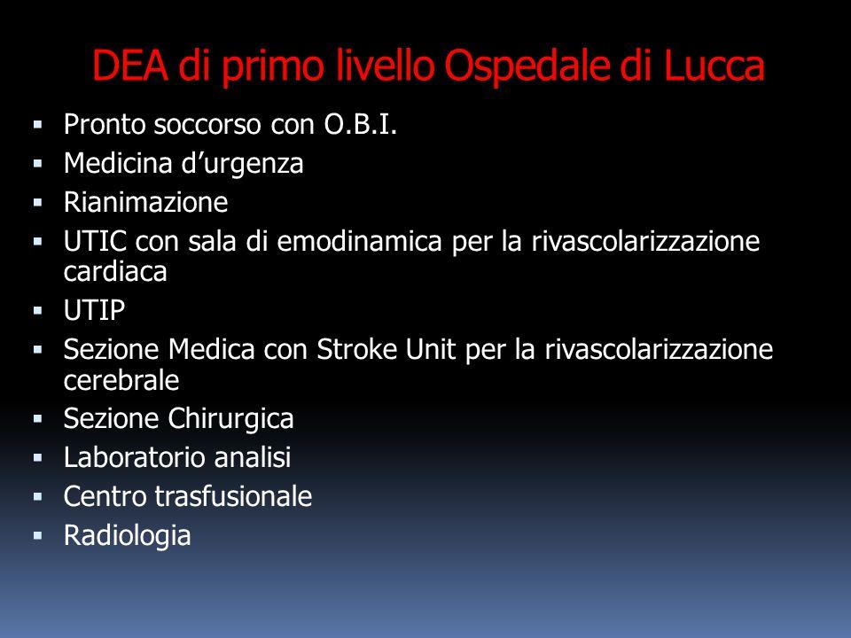 DEA di primo livello Ospedale di Lucca