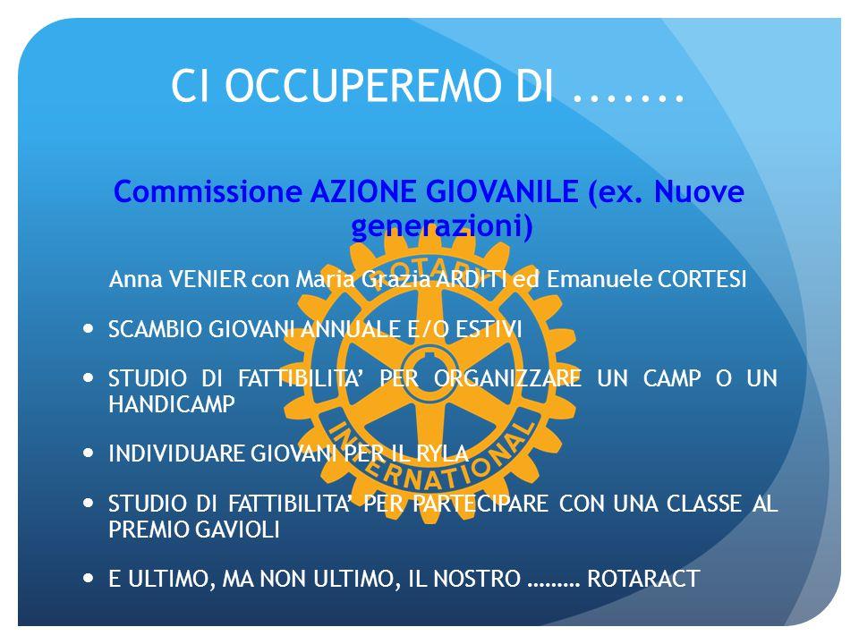 Commissione AZIONE GIOVANILE (ex. Nuove generazioni)