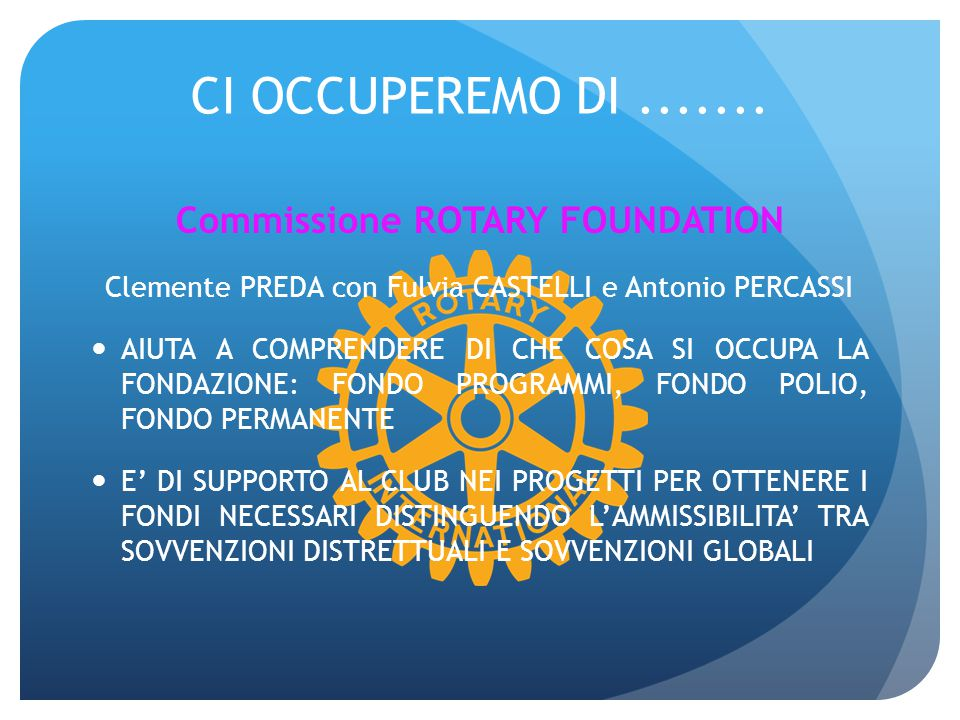 Commissione ROTARY FOUNDATION