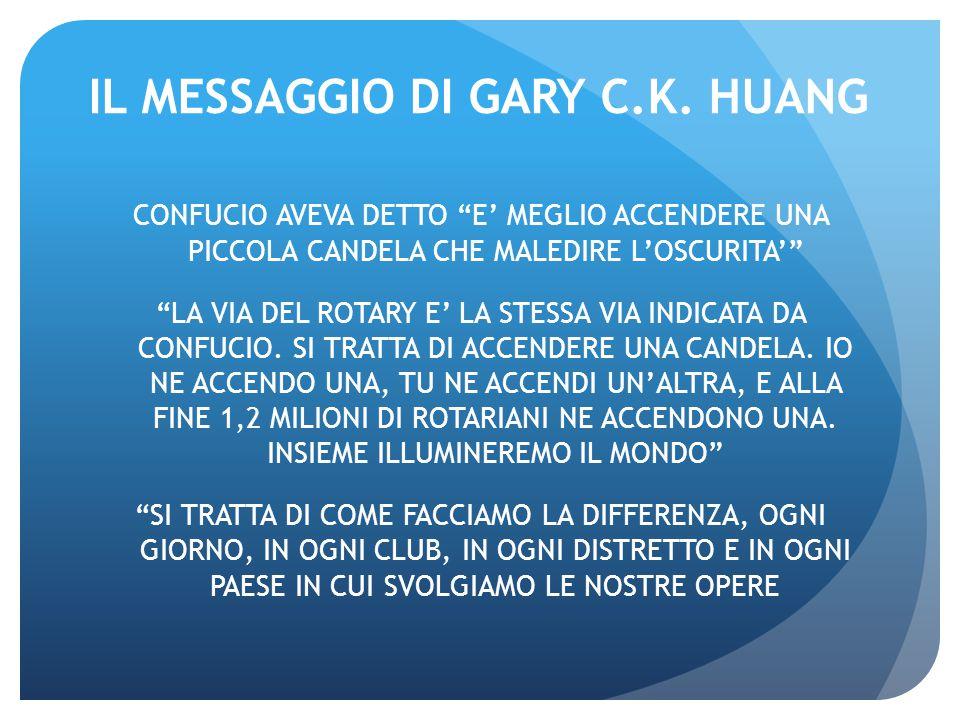 IL MESSAGGIO DI GARY C.K. HUANG