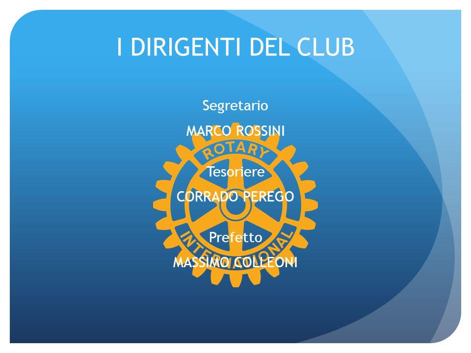 I DIRIGENTI DEL CLUB Segretario MARCO ROSSINI Tesoriere CORRADO PEREGO Prefetto MASSIMO COLLEONI