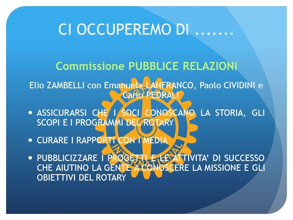 Commissione PUBBLICE RELAZIONI
