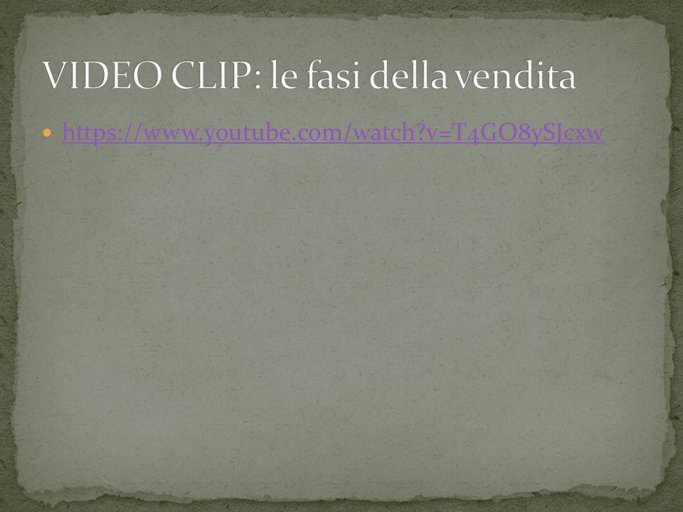 VIDEO CLIP: le fasi della vendita