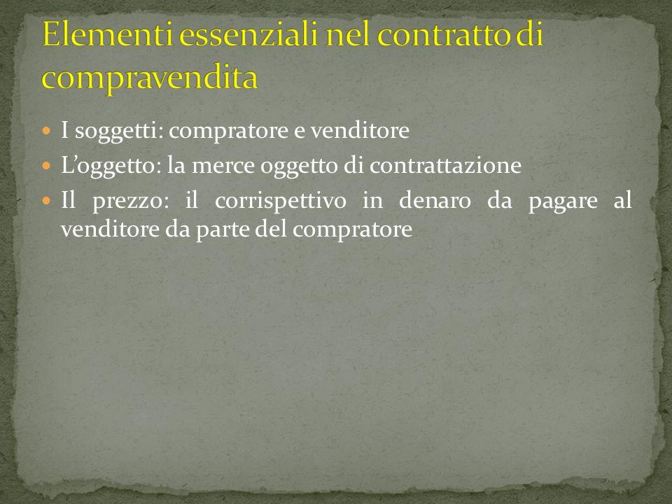 Elementi essenziali nel contratto di compravendita