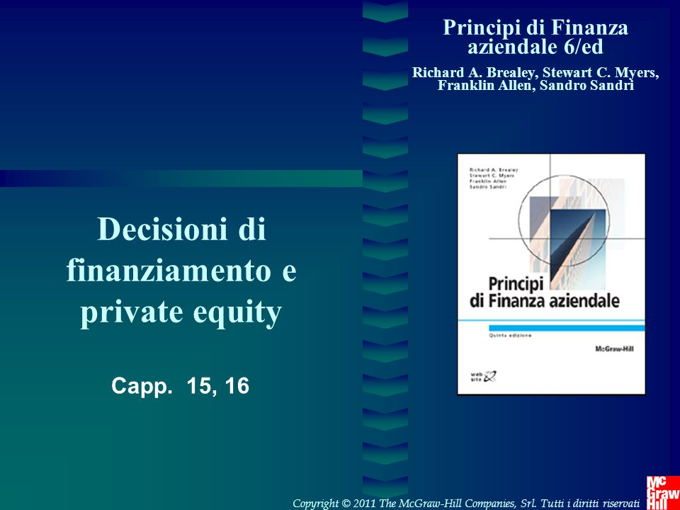 Decisioni di finanziamento e private equity