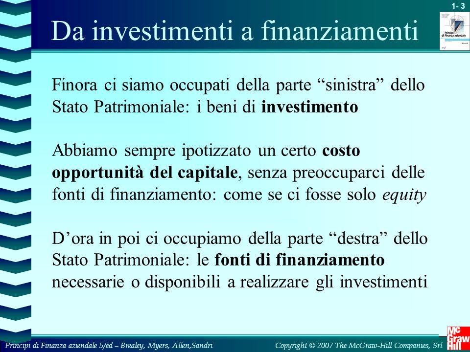 Da investimenti a finanziamenti