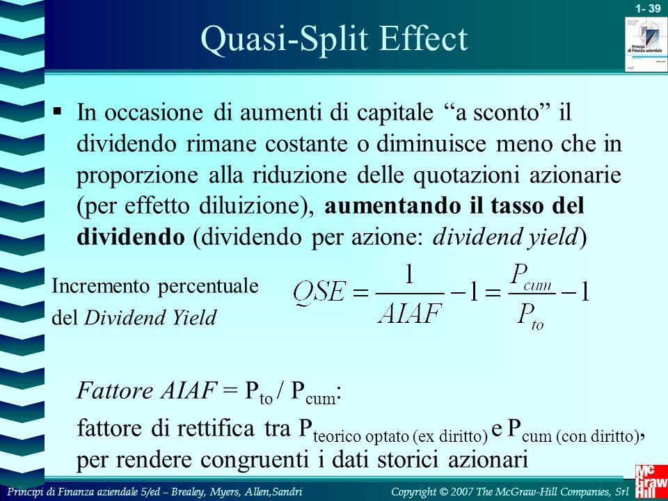 Quasi-Split Effect