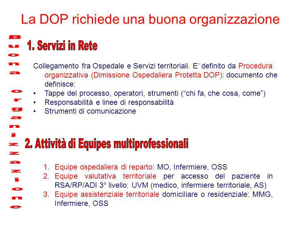 La DOP richiede una buona organizzazione