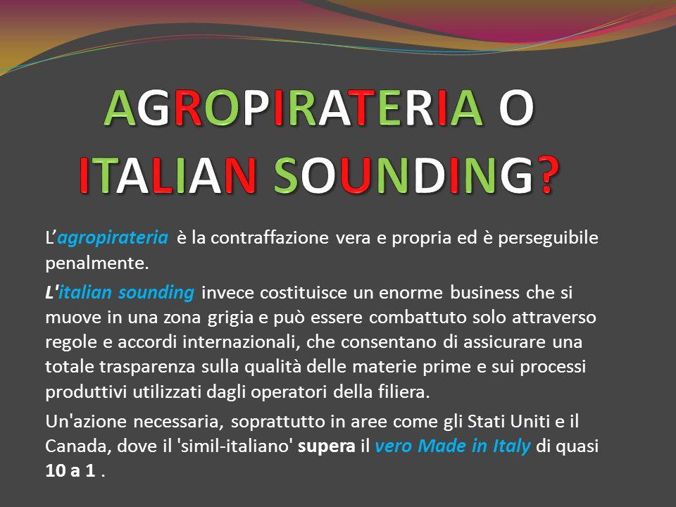 AGROPIRATERIA O ITALIAN SOUNDING