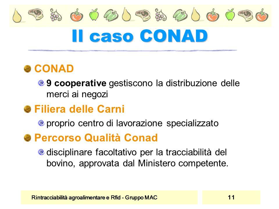 Il caso CONAD CONAD Filiera delle Carni Percorso Qualità Conad