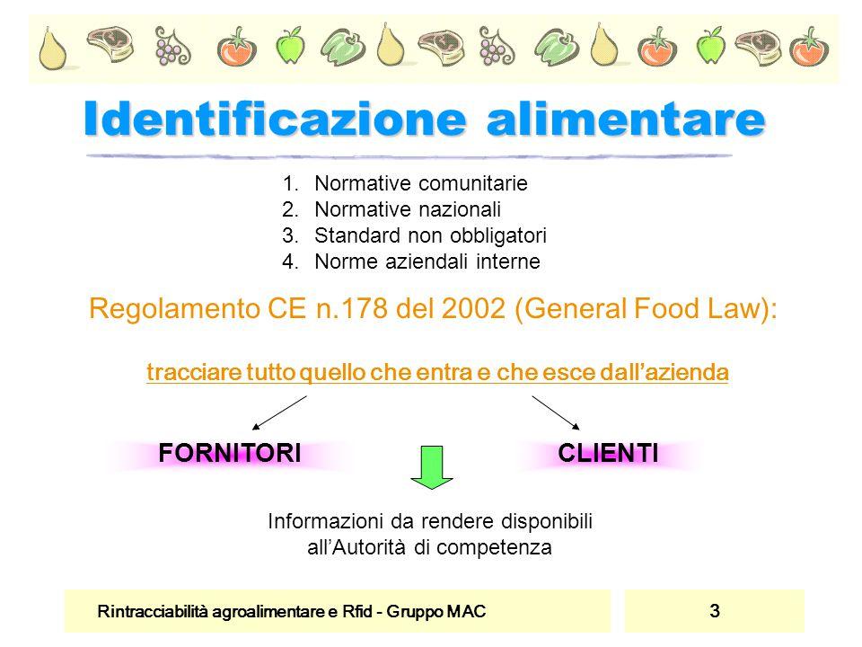 Identificazione alimentare