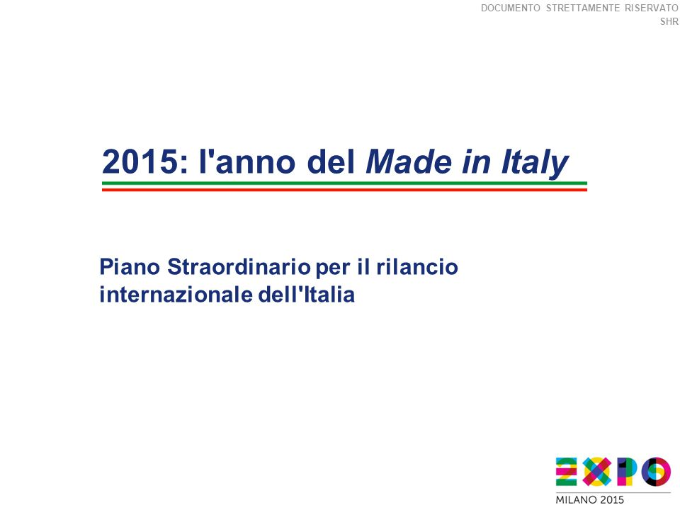 2015: l anno del Made in Italy