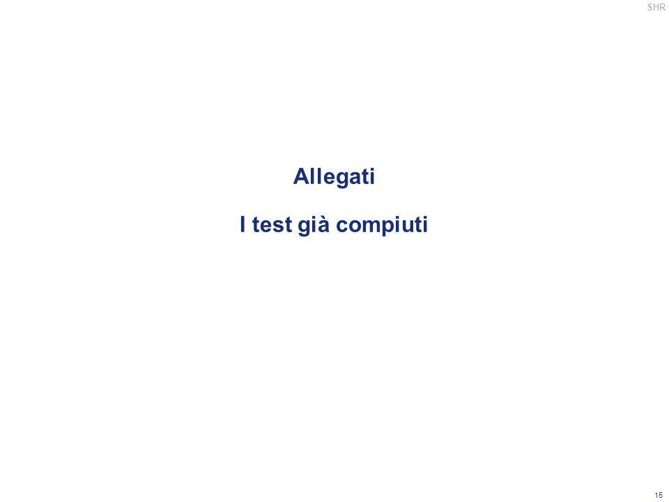 Allegati I test già compiuti