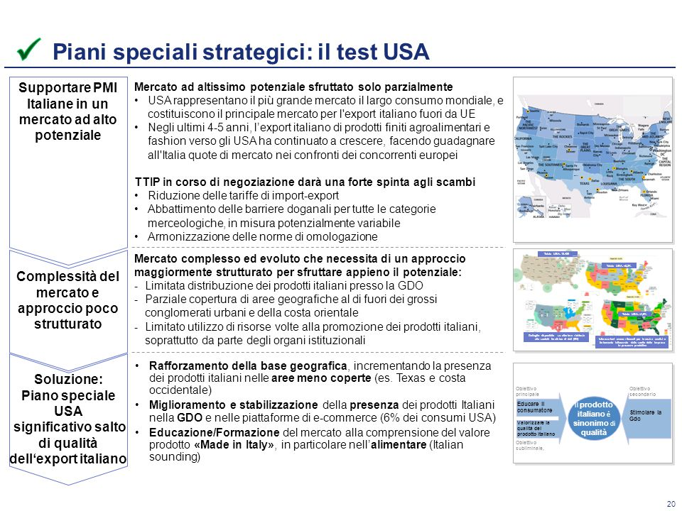 Piani speciali strategici: il test USA