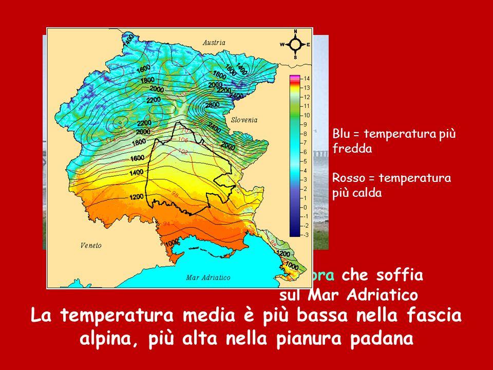 La Bora che soffia sul Mar Adriatico