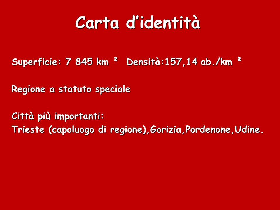 Carta d'identità Superficie: 7 845 km ² Densità:157,14 ab./km ²