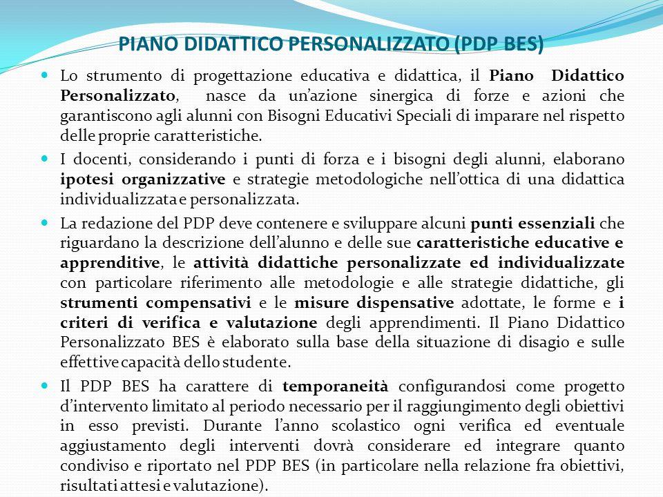 PIANO DIDATTICO PERSONALIZZATO (PDP BES)