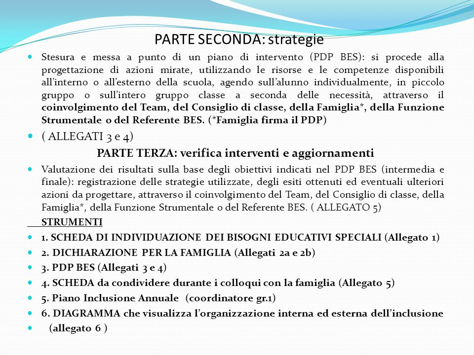 PARTE SECONDA: strategie