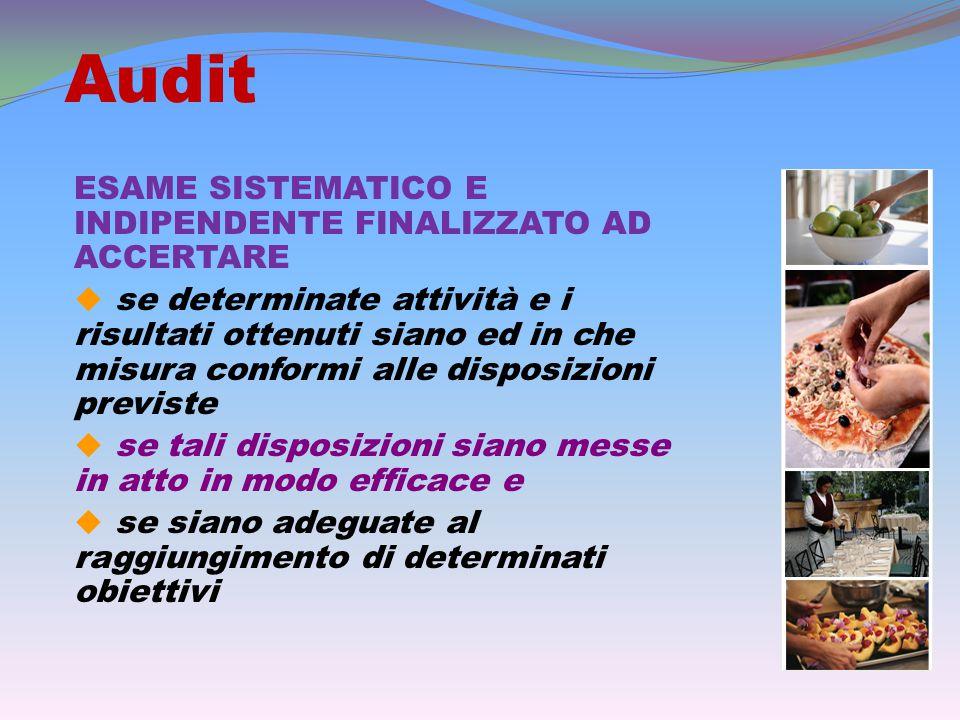 Audit ESAME SISTEMATICO E INDIPENDENTE FINALIZZATO AD ACCERTARE