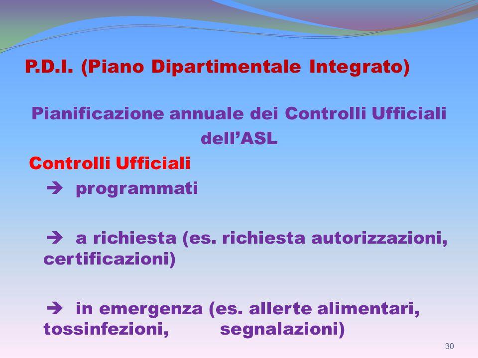 P.D.I. (Piano Dipartimentale Integrato)