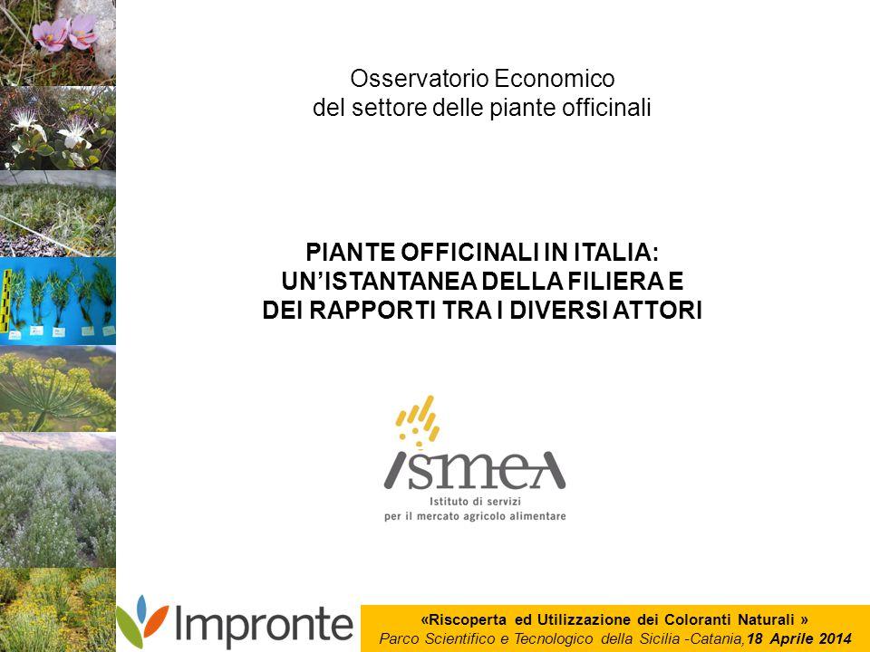 Osservatorio Economico del settore delle piante officinali
