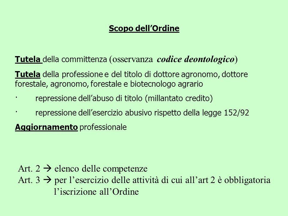 Art. 2  elenco delle competenze