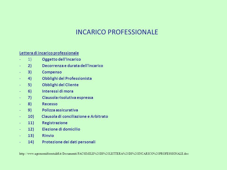 INCARICO PROFESSIONALE