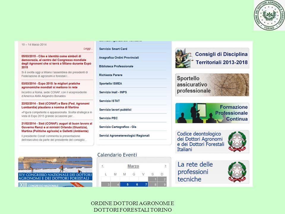ORDINE DOTTORI AGRONOMI E DOTTORI FORESTALI TORINO