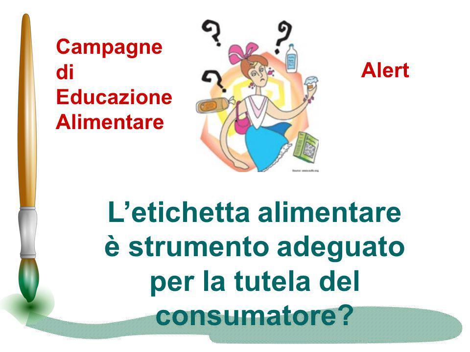 L'etichetta alimentare per la tutela del consumatore