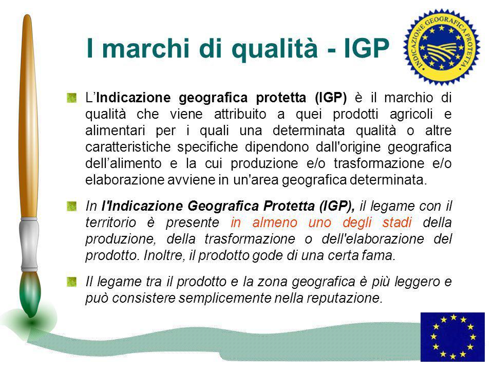 I marchi di qualità - IGP