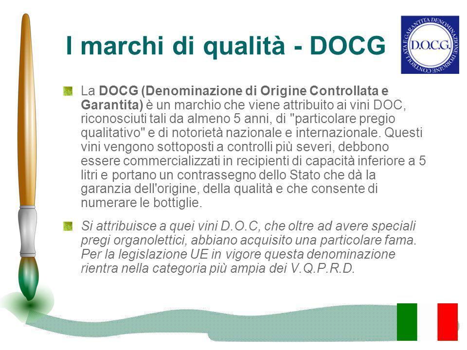 I marchi di qualità - DOCG