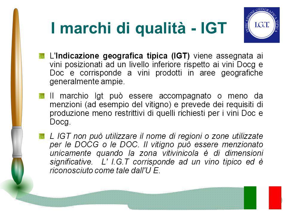 I marchi di qualità - IGT