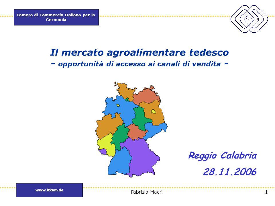 Il mercato agroalimentare tedesco - opportunità di accesso ai canali di vendita -