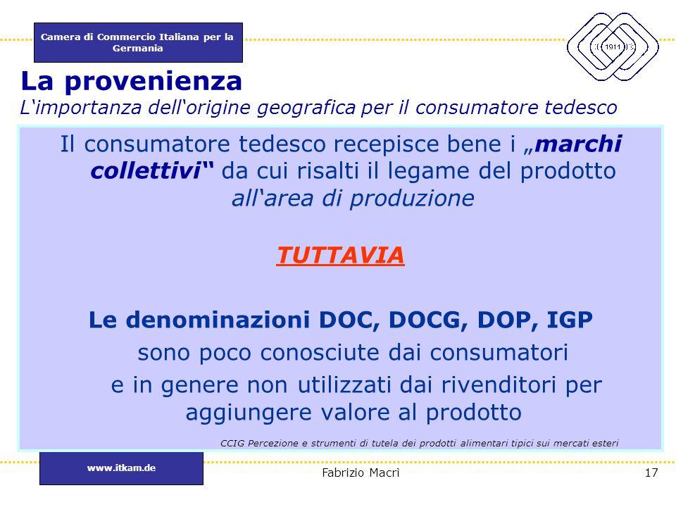 Le denominazioni DOC, DOCG, DOP, IGP I MARCHI COLLETTIVI DI PRODUZIONE