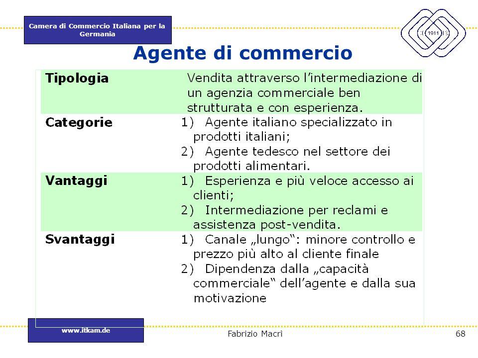 Agente di commercio A differenza dell'Italia sono delle agenzie ben strutturate e con esperienza.