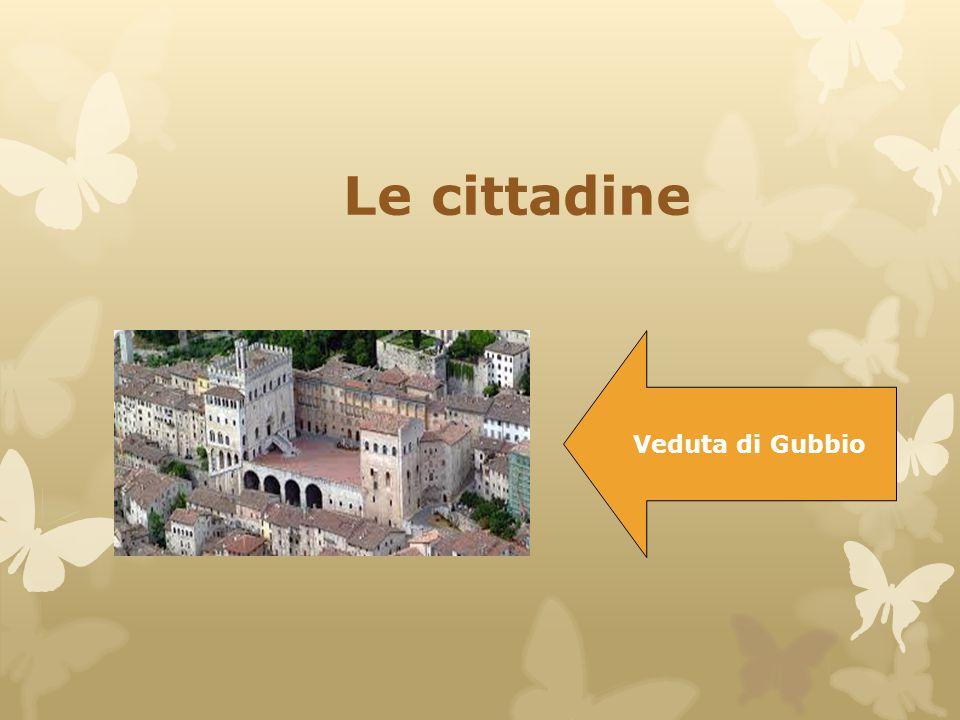 Le cittadine Veduta di Gubbio